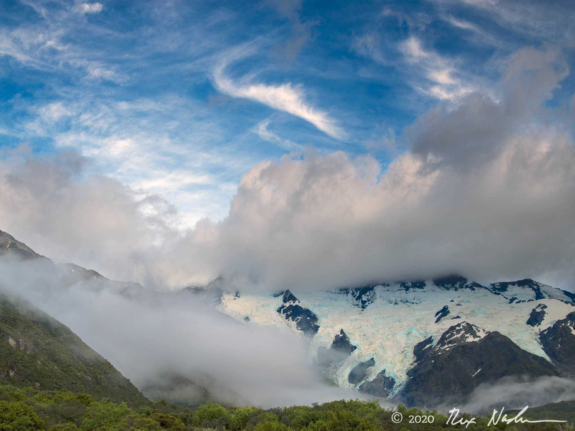 Clouds and Sky, Mt. Cook - South Island, New Zealand