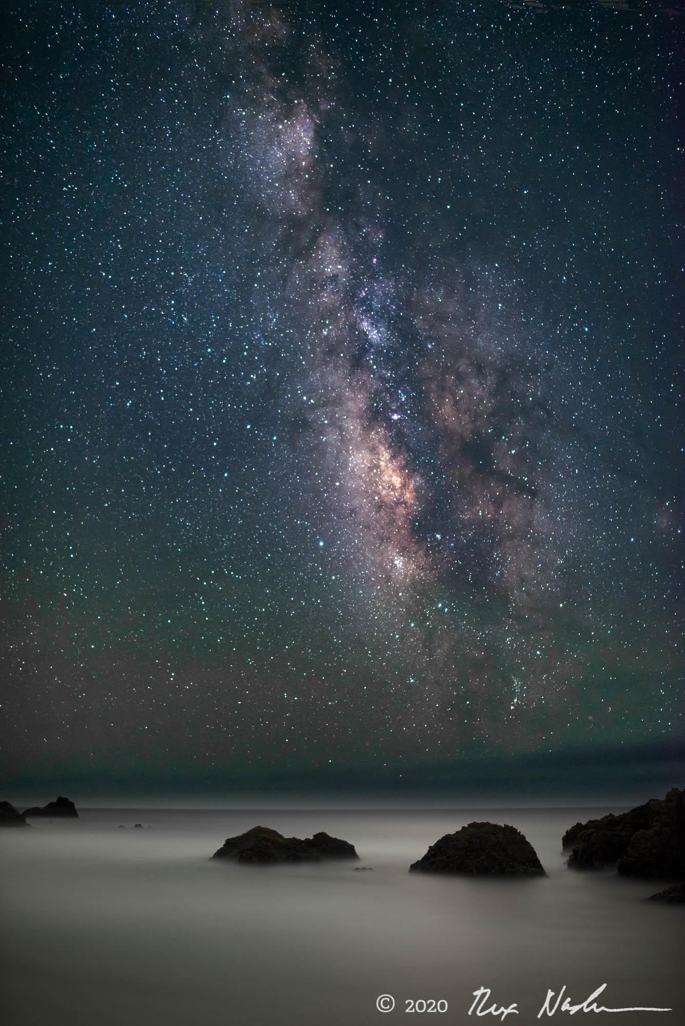 Cosmos with Ocean - Big Sur