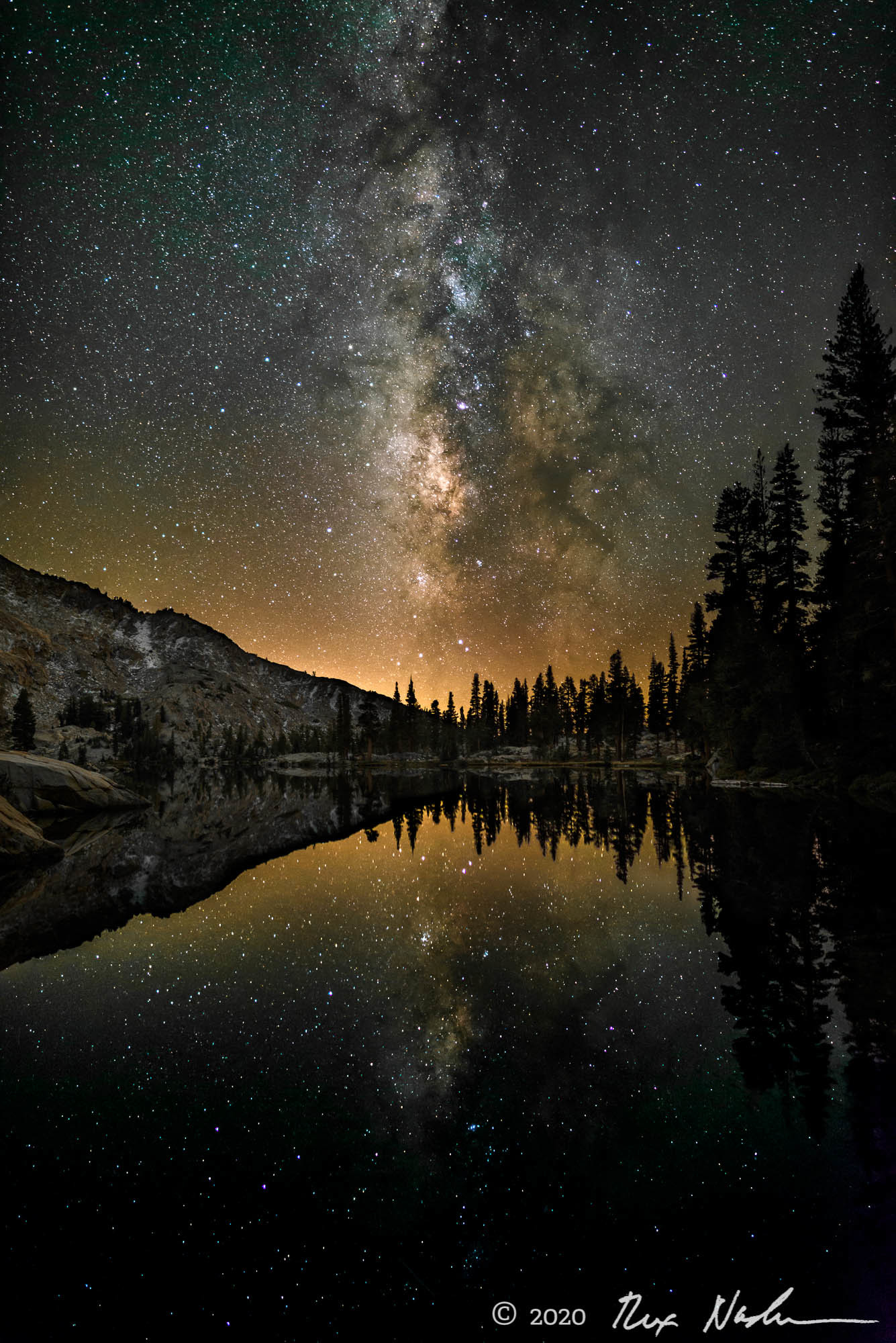 Vision of Clarity - Milky Way and Lake, Yosemite High Country