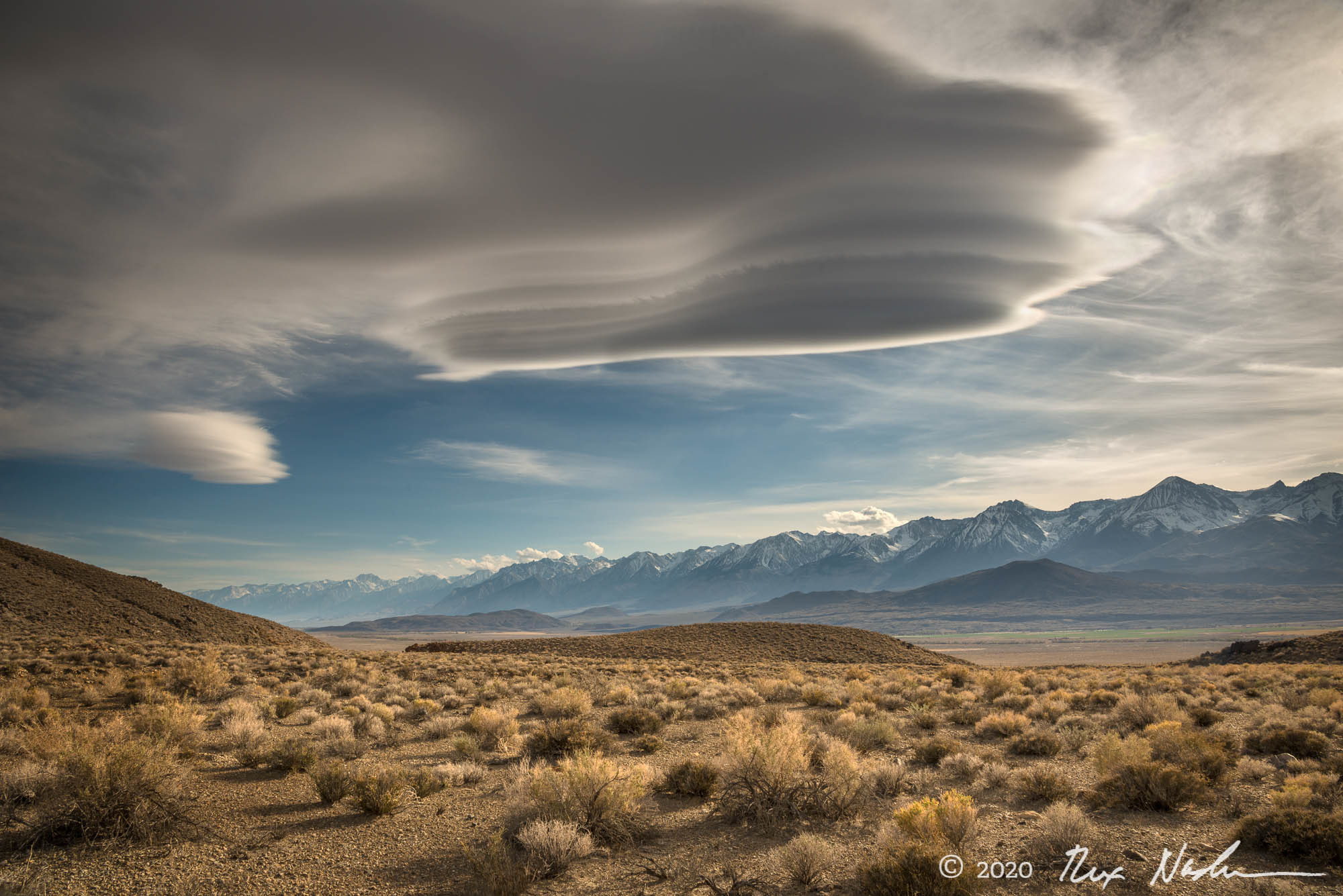 Range of Light with Cloud - Owens Valley