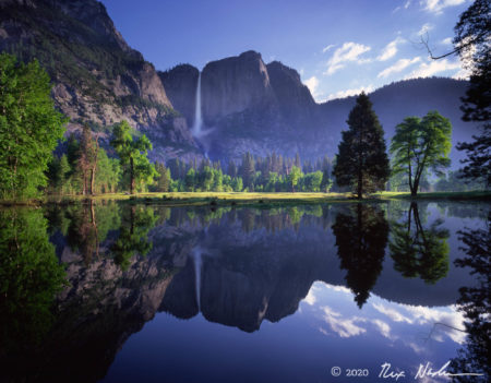 Yosemite Falls and Merced in Flood