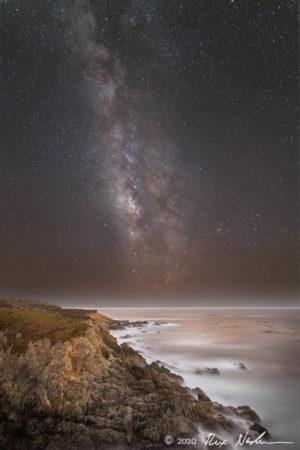 Headland with Galaxy